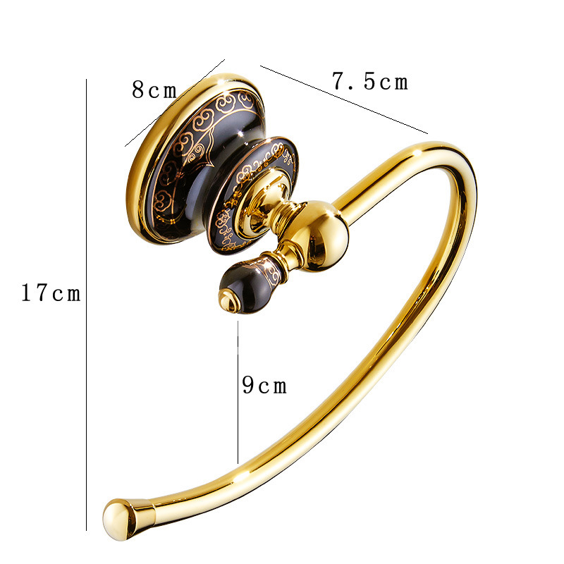 Best Wall Mount Polished Brass Decorative Towel Ring Marble