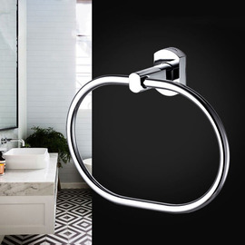 Good Oval Shaped Wall Mount Chrome Towel Rings For Bathrooms
