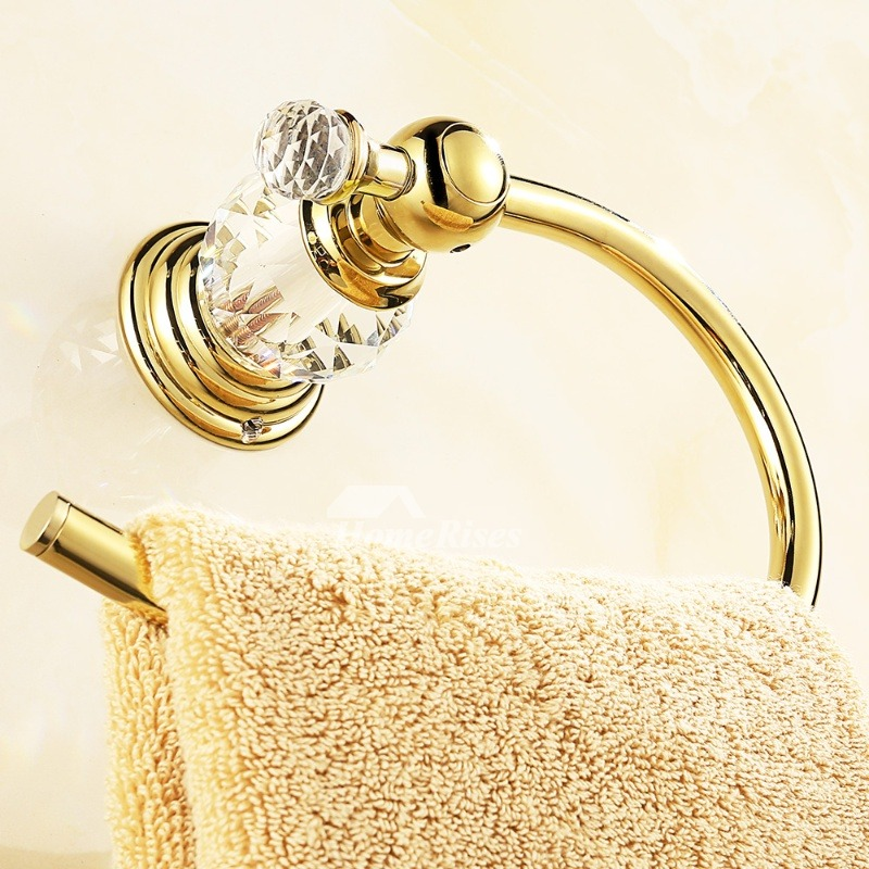 exquisite wall mount bathroom towel rings silver gold rose