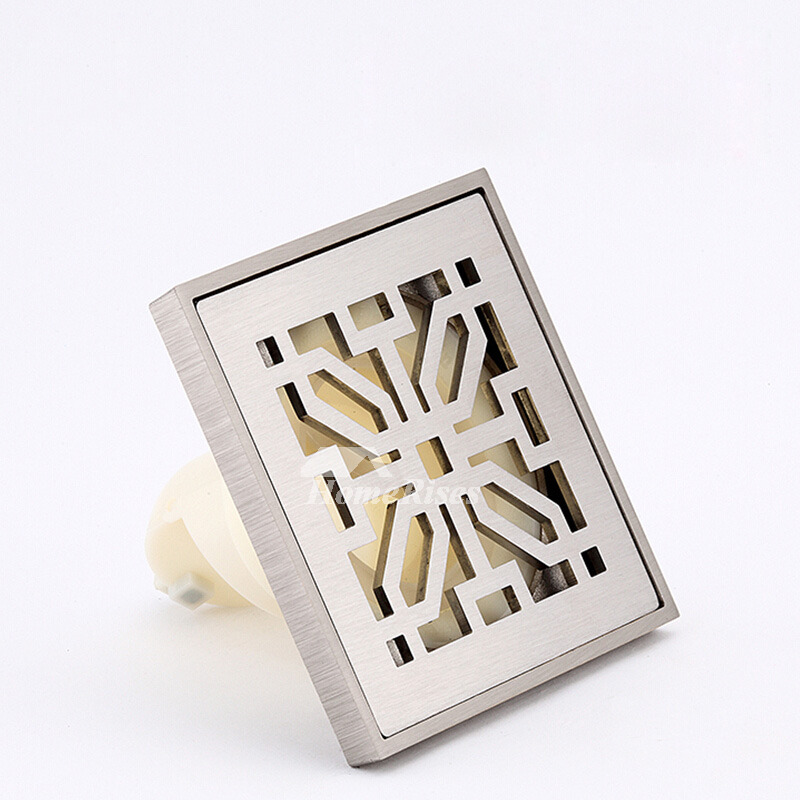 Chic Square Shaped Hollow Stainless Steel Shower Drain