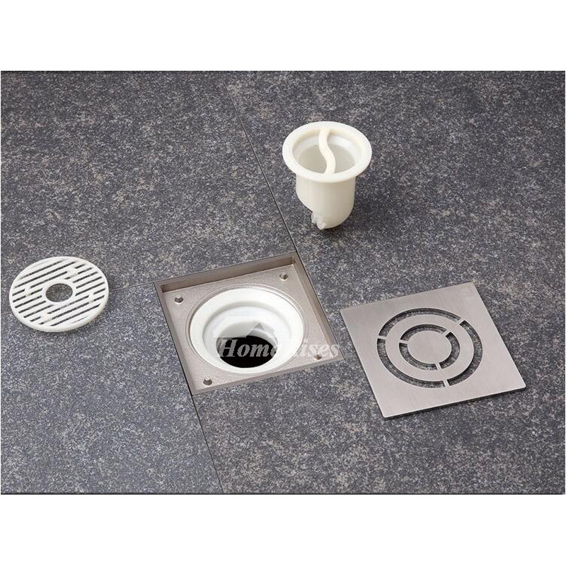 Hollow Design Square Shaped Stainless Steel Floor Drain Bathroom