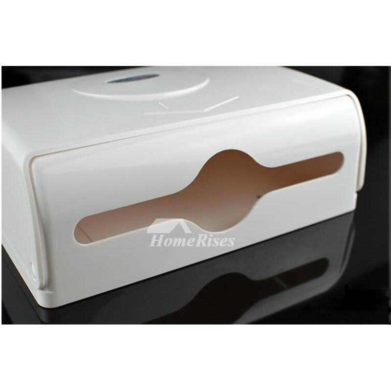 Solid Square Shaped No Drill ABS Plastic Modern Toilet Paper Holder