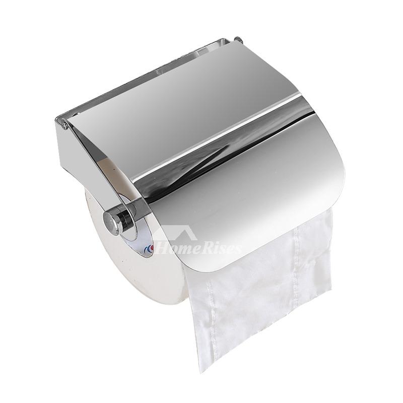 simple stainless steel modern toilet paper holder silver. Black Bedroom Furniture Sets. Home Design Ideas