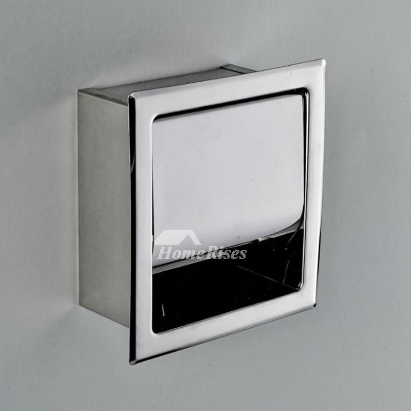 Designer Recessed Toilet Paper Holder Square Shaped
