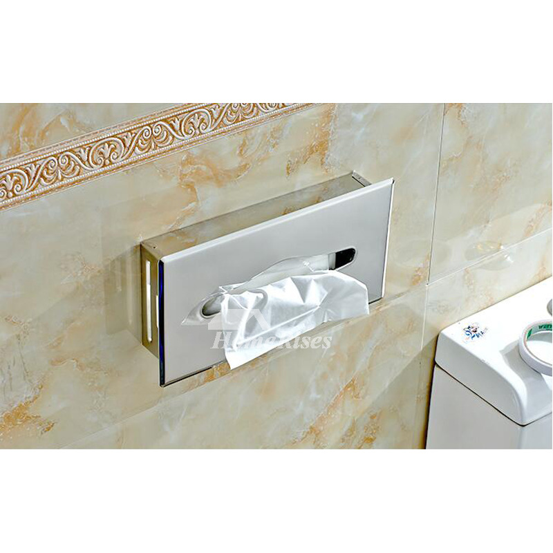 In Wall Toilet Paper Holder Recessed Rectangular Shaped