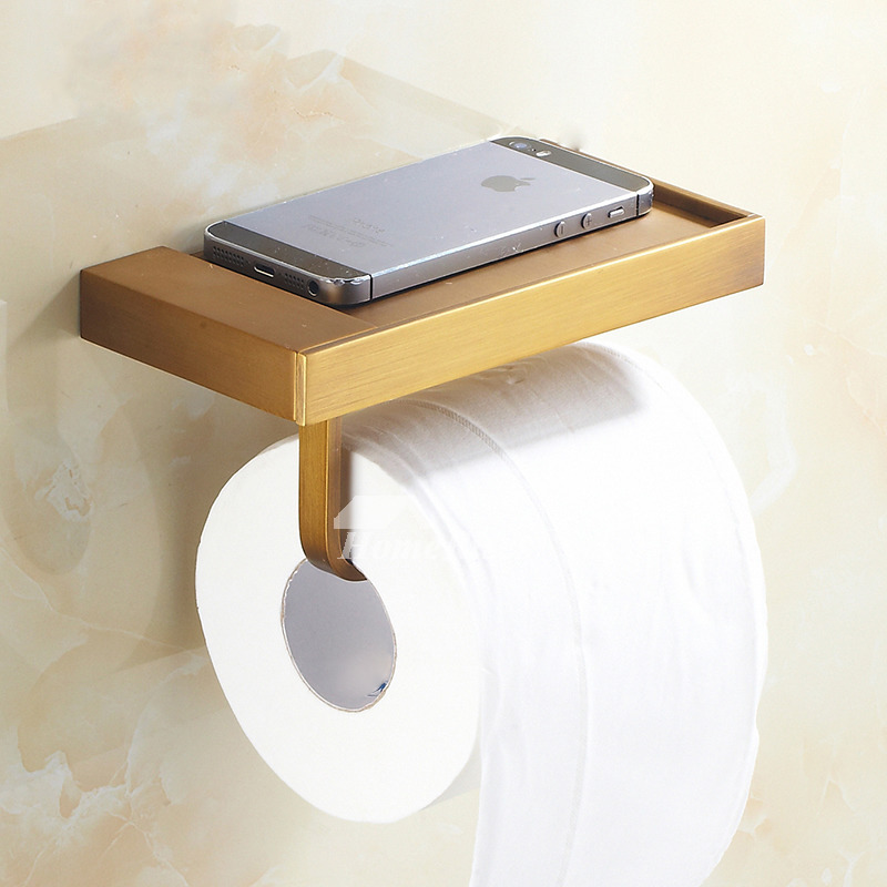 vintage shelf toilet paper holder antique brass orb wall mount. Black Bedroom Furniture Sets. Home Design Ideas