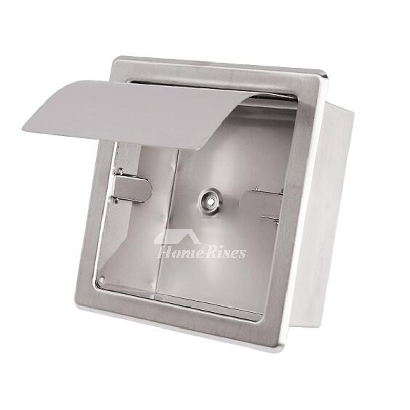 Modern Toilet Paper Holder Recessed Chrome/Brushed
