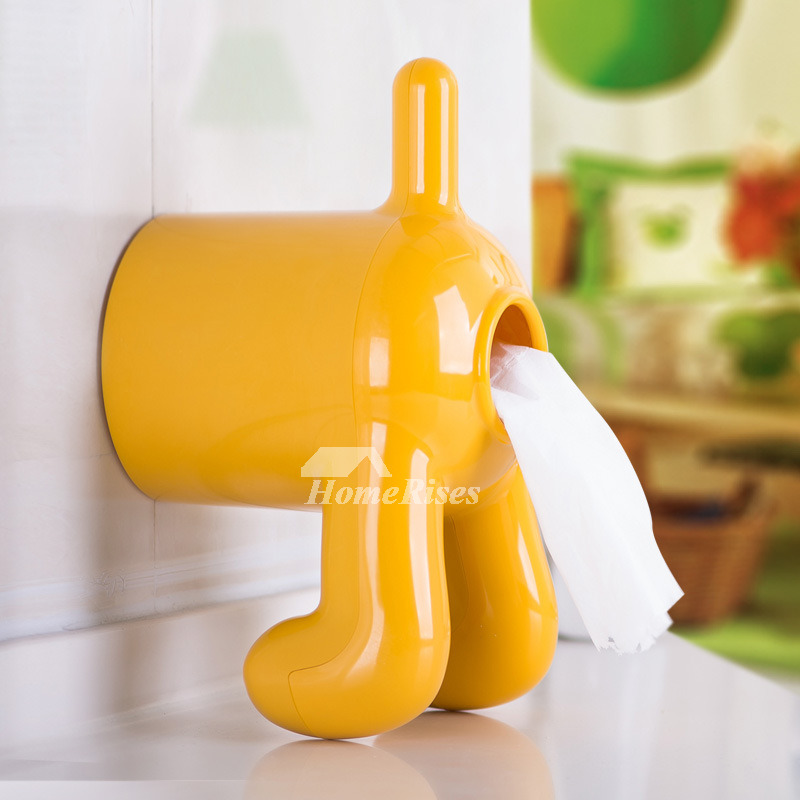 Dog Toilet Paper Holder Abs Plastic Suction Cup