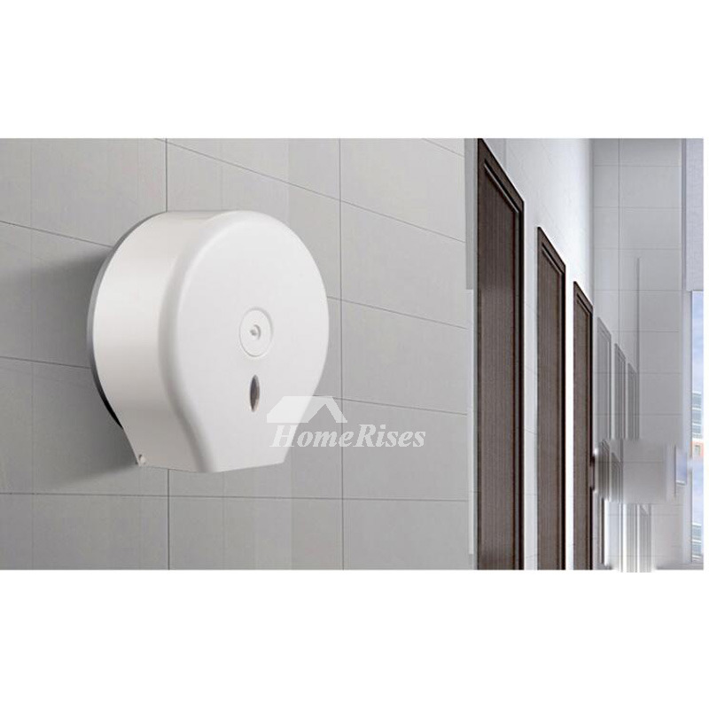 Toilet Paper Holder White Wall Mount ABS Plastic Bathroom