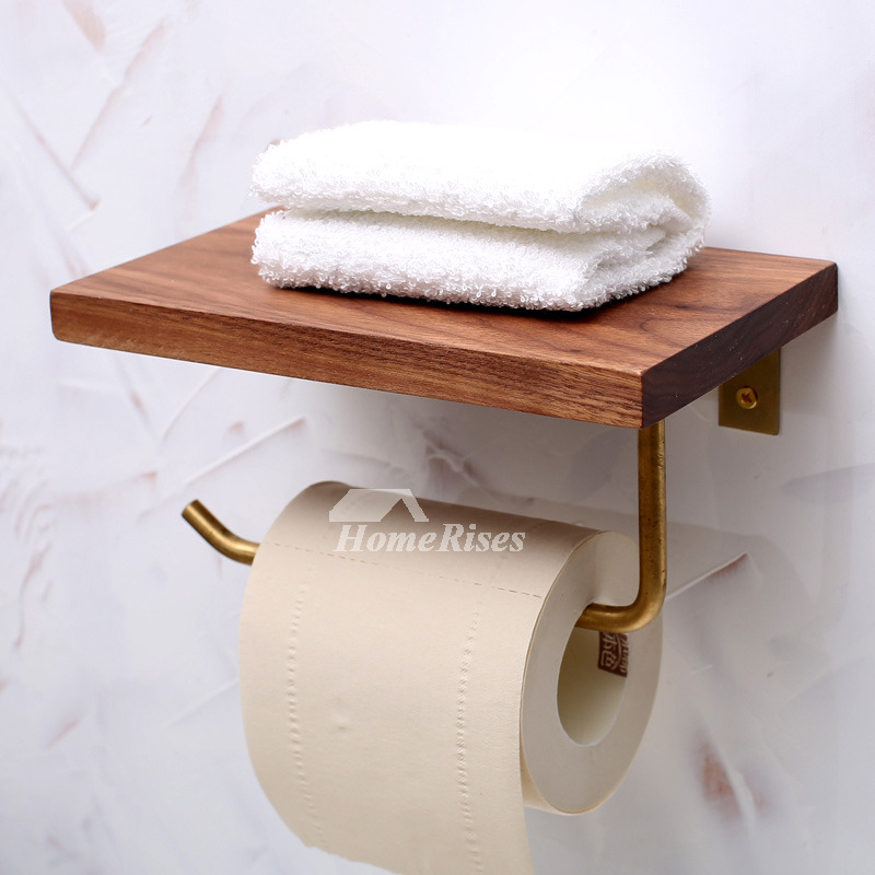 timeless wooden toilet paper holder wall mount with shelf. Black Bedroom Furniture Sets. Home Design Ideas