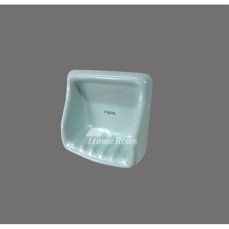 Modern ceramic wall mounted soap dish bathroom for Wall mounted soap dishes for bathrooms