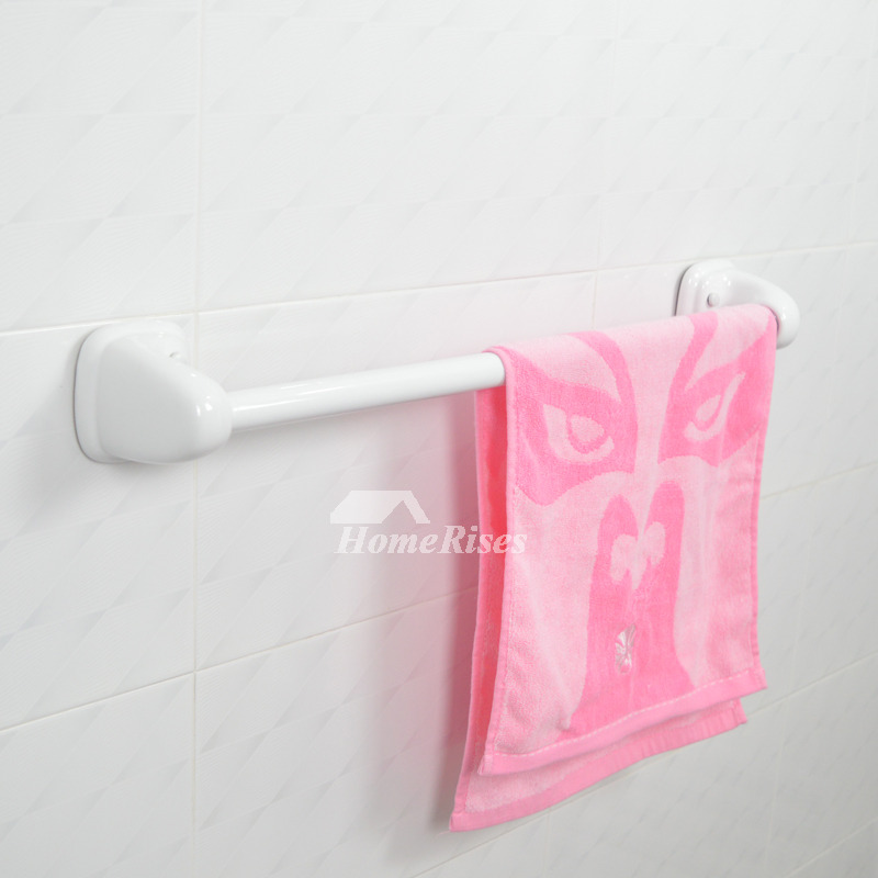 Simple Wall Mount Ceramic Bathroom Towel Bar White