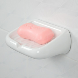 Modern Wall Mounted Ceramic Soap Dish White