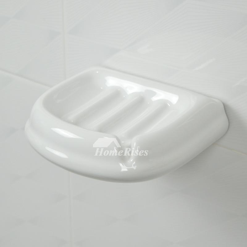 Ceramic Soap Dish For Shower Wall White Soap Holder