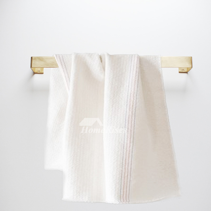 Luxury Bathroom Brushed Wall Mount Brass Towel Bar