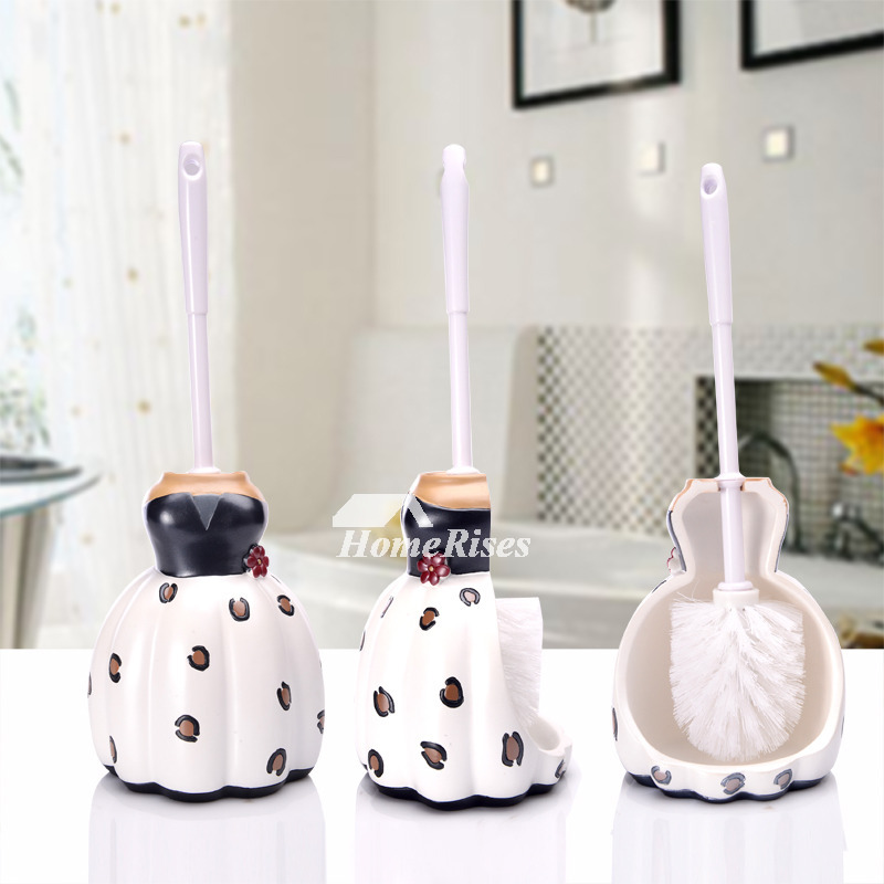Creative Free Standing Decorative Toilet Brush Holders