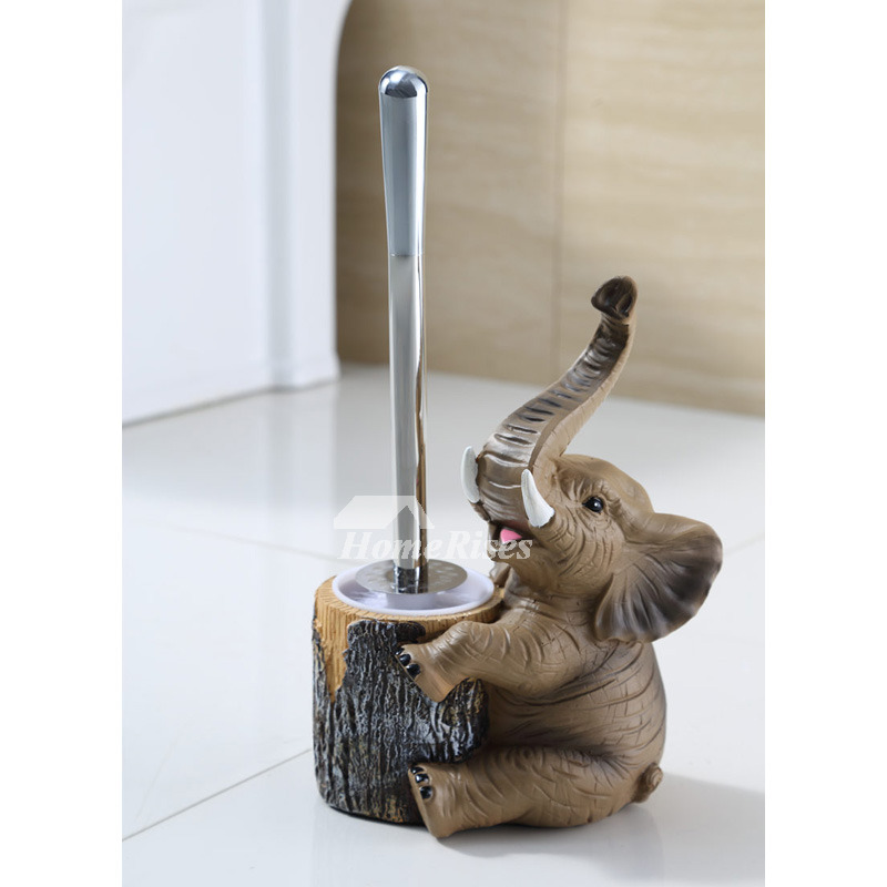 Dog Toilet Brush Holder Free Standing Resin Bathroom