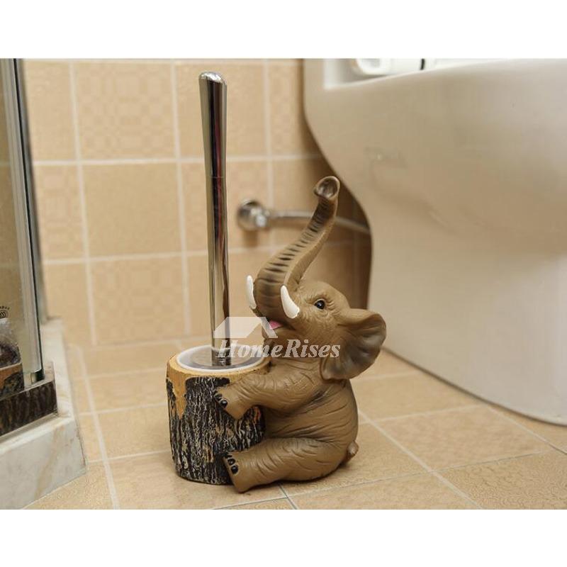 Dog Toilet Brush Holder Free Standing Resin Bathroom