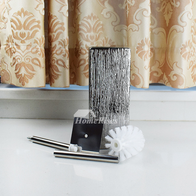 Unique Toilet Brush Holders Free Standing Brushed Ceramic