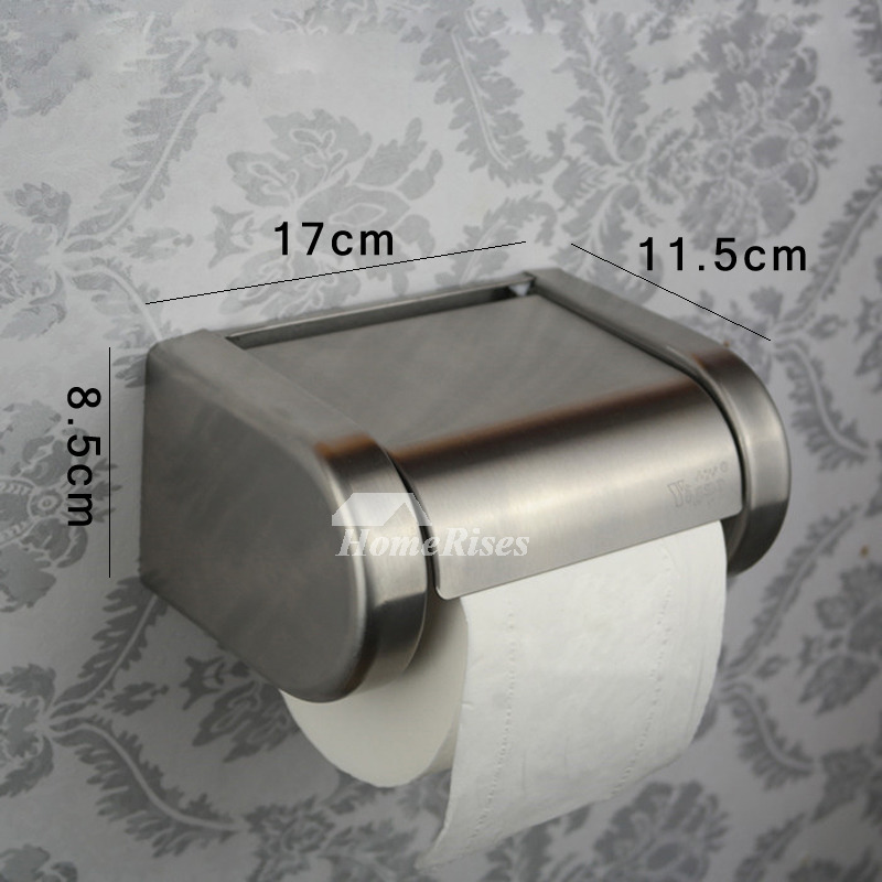 Chic Toilet Paper Holder Brushed Nickel Stainless Steel