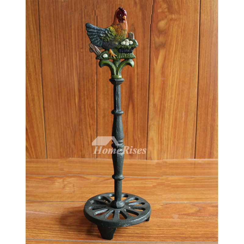 Vintage Carved Animal Toilet Paper Holder Stand Iron
