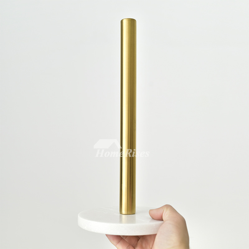 Kitchen Brass Marble Paper Towel Holder Gold Tissue Holder Stand