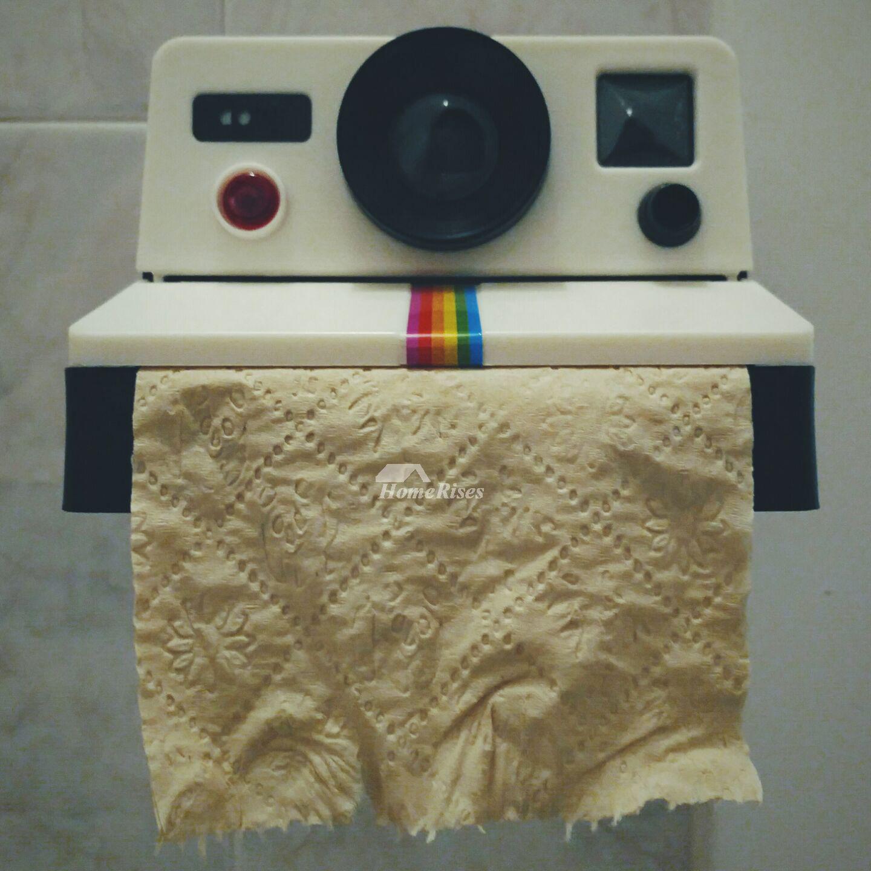Decorative Bathroom Wall Board: Decorative Bathroom Toilet Paper Holder Wall Mount Camera