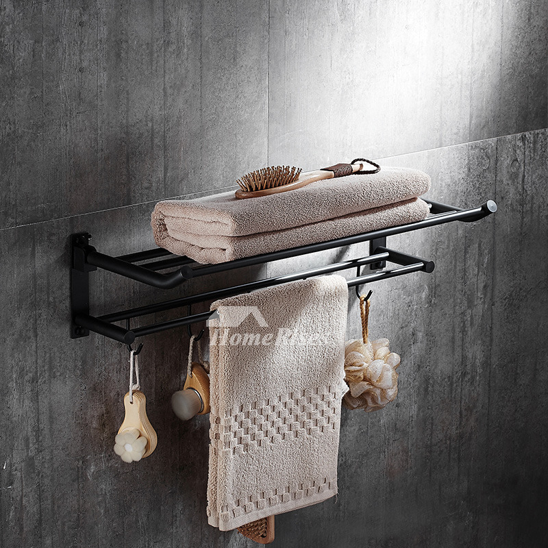 Black Bathroom Shelves Oil-Rubbed Bronze Wall Mount