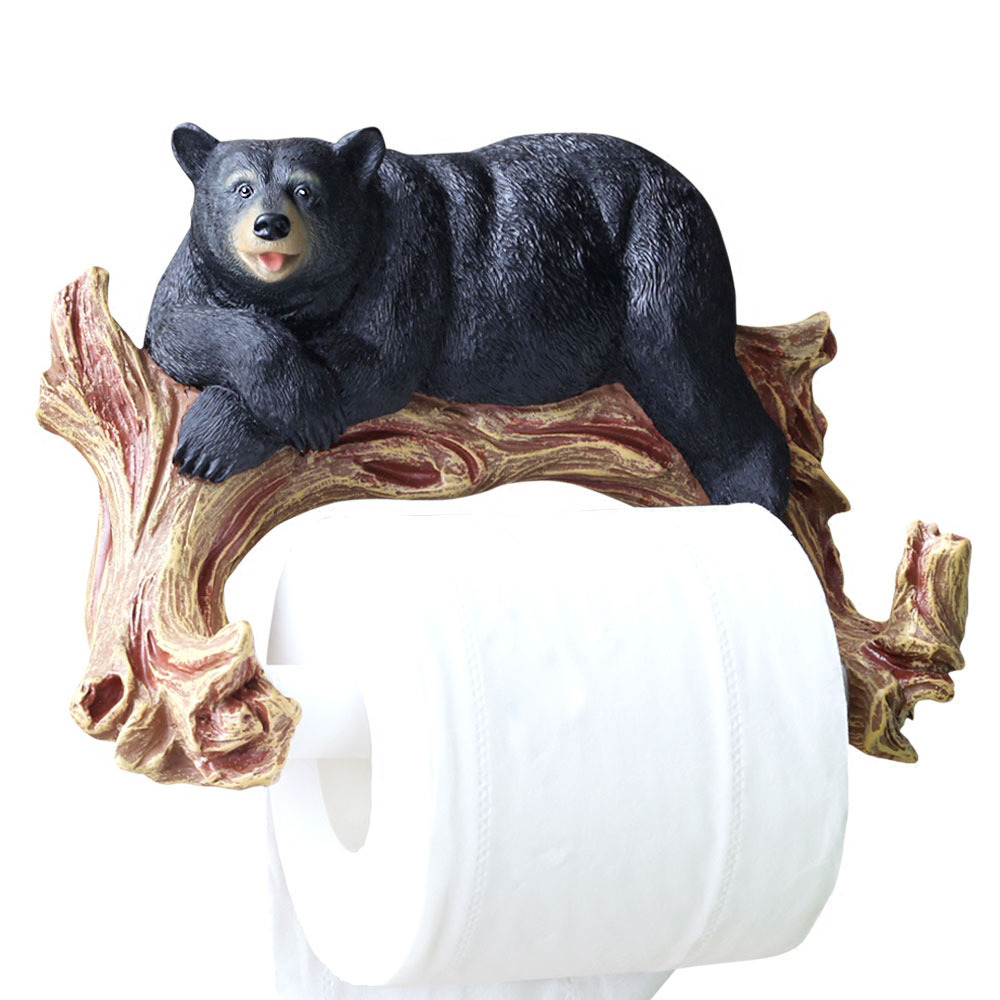 Bear toilet paper holder animal unique wall mount Animal toilet paper holder