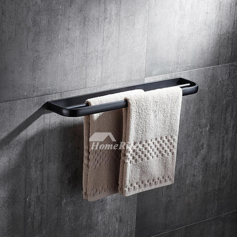 Modern 5-Piece Black Bathroom Hardware Sets Oil Rubbed Bronze