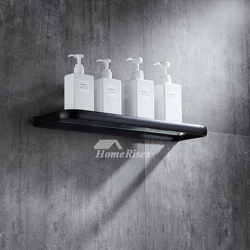 Glass Bathroom Shelves Black Oil-Rubbed Bronze