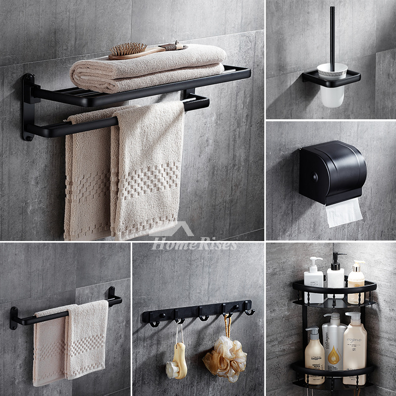 5-Piece Black Oil-Rubbed Bronze Bathroom Assessories Set