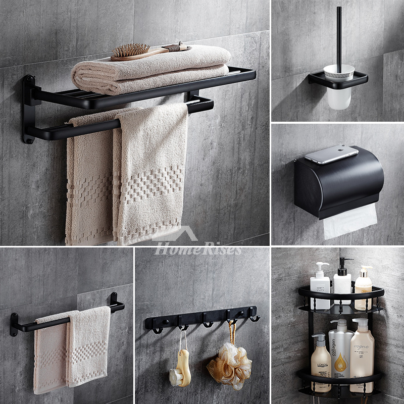 5 piece black oil rubbed bronze bathroom accessories set - Rubbed oil bronze bathroom accessories ...