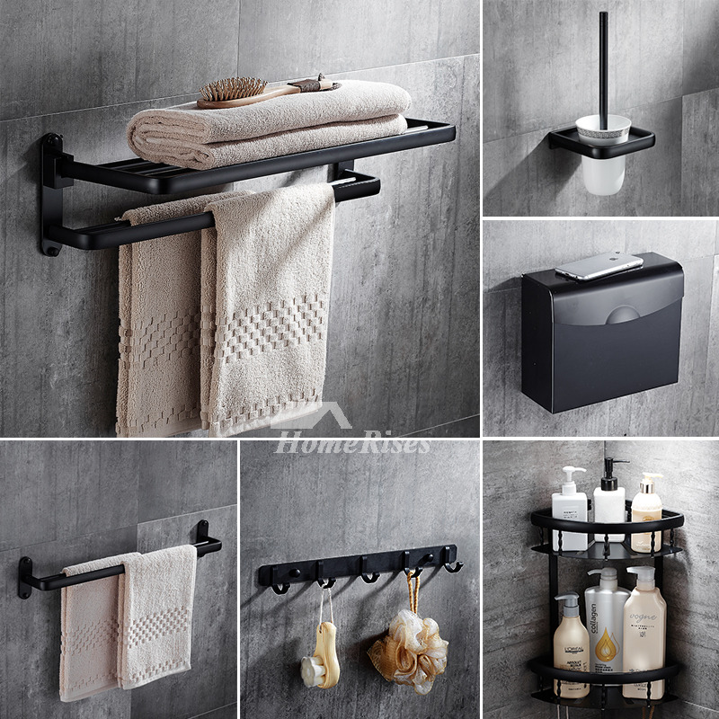 5 Piece Black Oil Rubbed Bronze Bathroom Accessories Set
