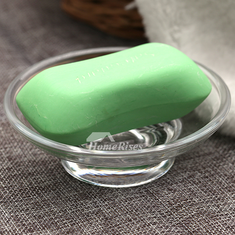 Cheap Round/Oval Shaped  Glass Soap Dish Free Standing