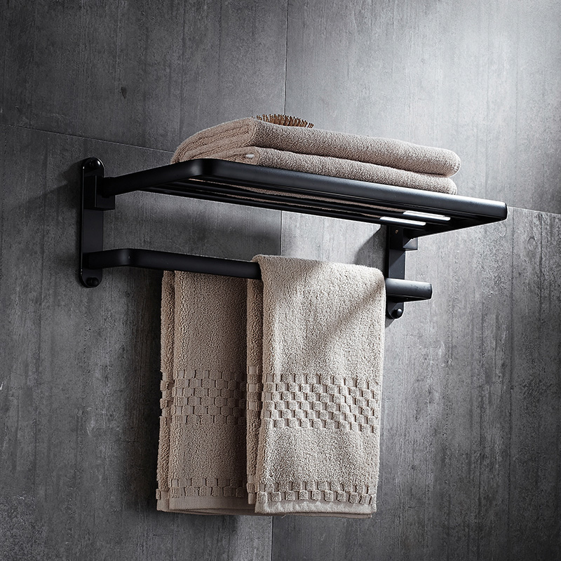 Towel Rack Black Oil Rubbed Bronze Wall Mount