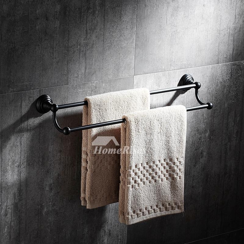 black towel rack wall mount oil rubbed bronze bathroom