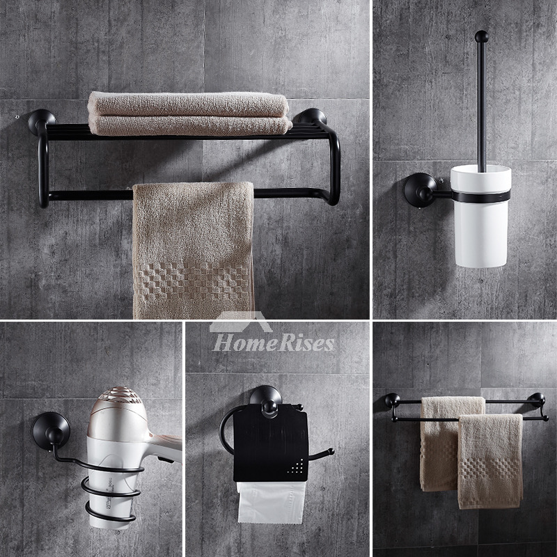 5 piece black bathroom accessories set oil rubbed bronze Oil rubbed bronze bathroom hardware