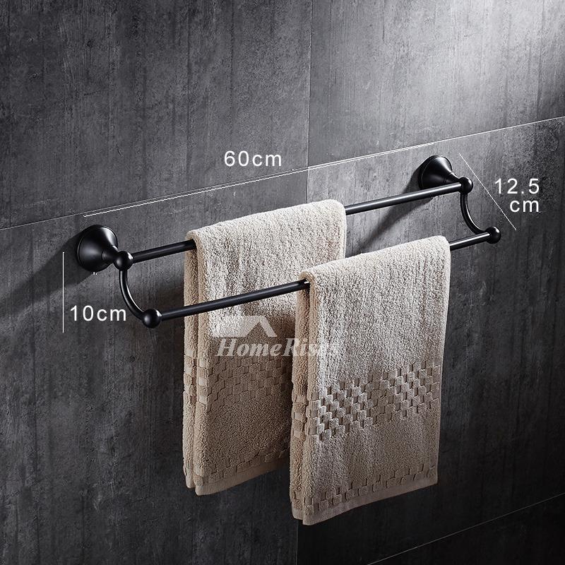 5 piece black bathroom accessories set oil rubbed bronze for Bronze bathroom accessories set