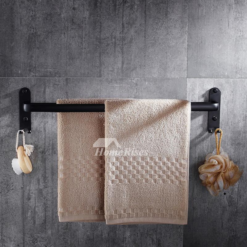 Black Towel Rack Aluminum Wall Mount Oil Rubbed Bronze