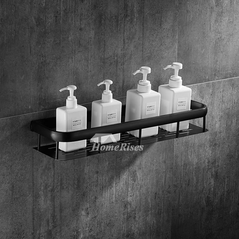 newest 1f362 ad4f3 Solid Wall Mount Towel Rack Black Bathroom