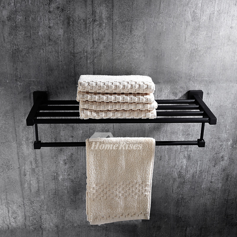 Solid Oil Rubbed Bronze Towel Rack