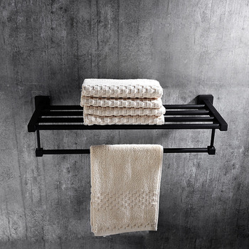 Exceptionnel Solid Oil Rubbed Bronze Towel Rack Shelf Black Bathroom