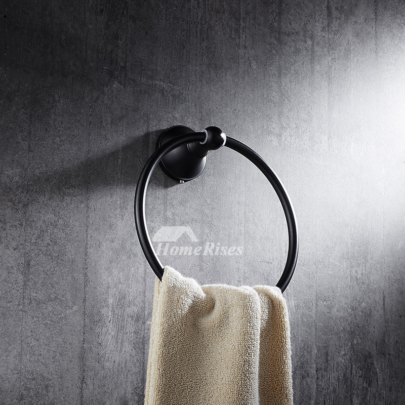 Towel Ring Oil Rubbed Bronze Black Wall Mount Brass