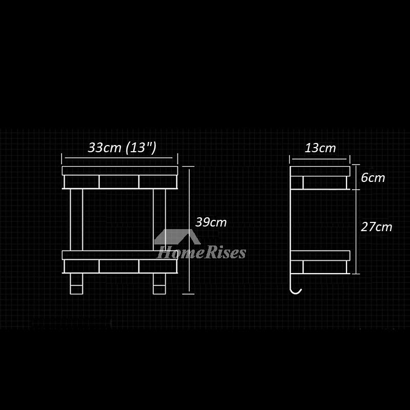 Best Rectangular Shaped Small Bathroom Wall Shelf Black