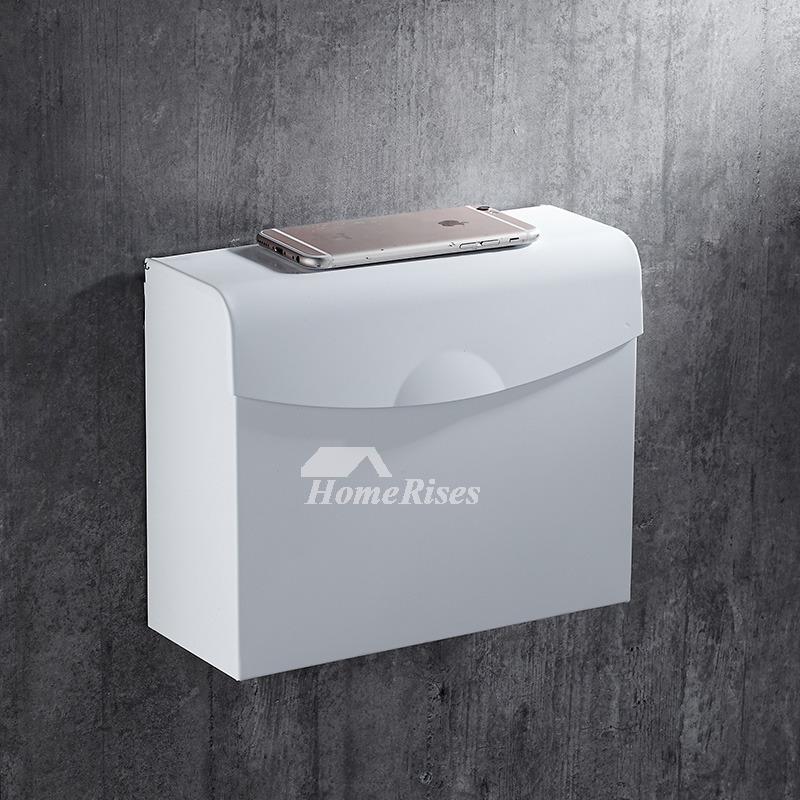 Modern Wall Mount White Toilet Paper Holder Bathroom