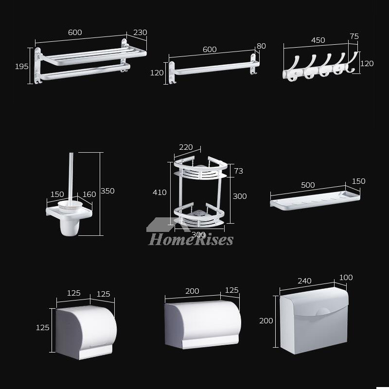5 piece aluminum painting cheap bathroom accessories sets for Bathroom 5 piece set