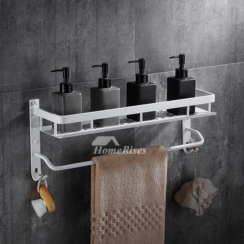 Nordic Wall Mount Bathroom White Shelves
