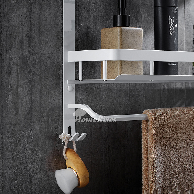 Nordic wall mount bathroom white shelves - Bathroom storage wall cabinets white ...