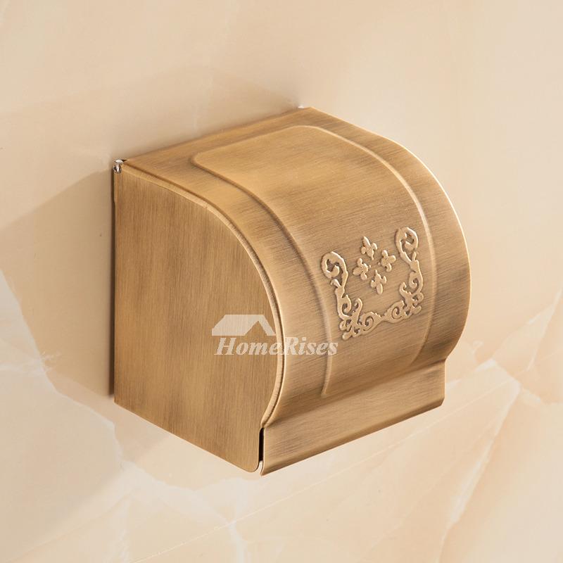 4-Piece Brass Antique Bathroom Hardware Set